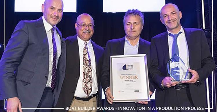 """Absolute завоевывает престижную в индустрии судостроения награду """"Boat Builder Awards"""" благодаря технологии ISS."""